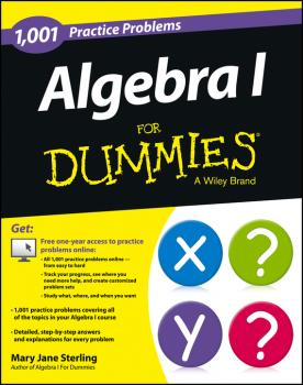 Algebra I: 1,001 Practice Problems For Dummies (+ Free Online Practice) - Mary Jane Sterling
