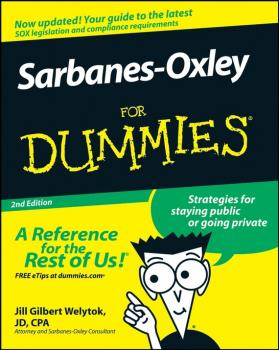 Sarbanes-Oxley For Dummies - Jill Welytok Gilbert